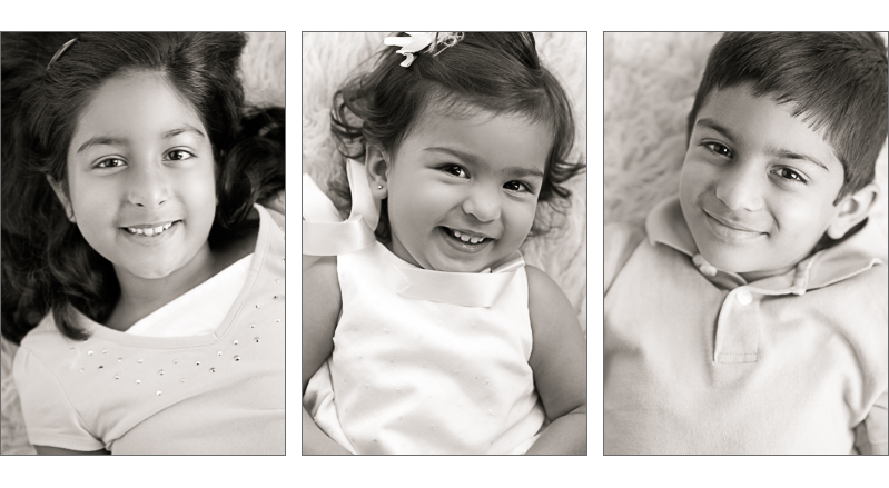 Make your DIY photo session easier by using individual photos of the kids