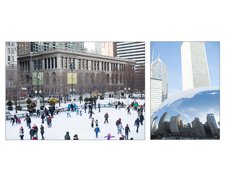 Ice skating in Millennium park | Chicago, IL | Cheryl Hall Photography